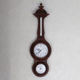 Часы, барометр, термометр прямоугольный