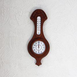 Часы, термометр прямоугольный 11/450 х 185 х 70