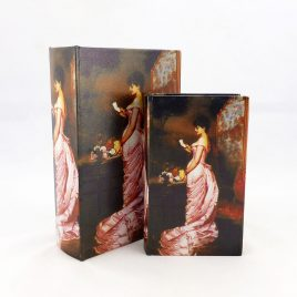 Шкатулка 2-х – Леди в розовом 22-KSH-SC387