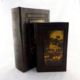 Шкатулка-книга набор из 2х фрукты Гранд Презент 22-KSH-XZ-PU09125A