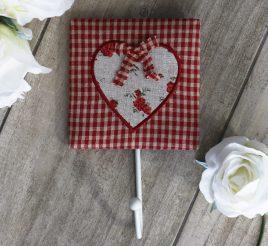 Крючок для полотенца красный-Сердечко