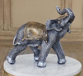 Слон серебро 31 см СП107 цв