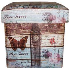 Пуфик банкетка с ящиком складной – Биг бен