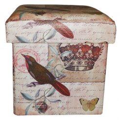 Пуфик банкетка, складной – Корона, с ящиком