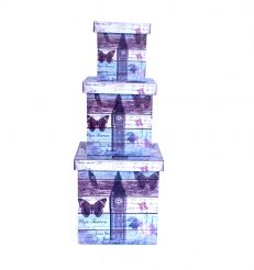 Шкатулка-коробка набор из 3-х – Биг Бен Гранд Презент SH31383-084