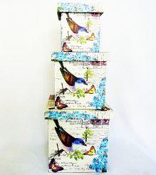 Шкатулка-коробка набор из 3-х – Птица SH31383-079