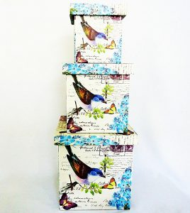 Шкатулка-коробка набор из 3-х – Птица