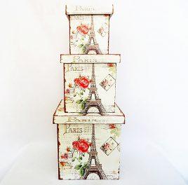 Шкатулка-коробка набор из 3-х – Париж