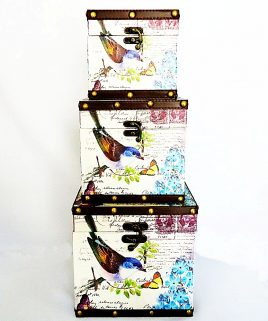 Сундук квадратный набор из 3-х – Птица Гранд Презент SH31353-079
