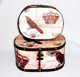 Шкатулка овальная набор из 2-х – Корона