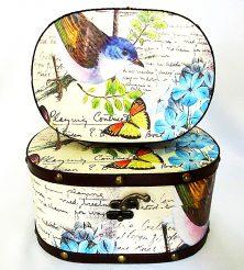 Шкатулка овальная набор из 2-х – Птица