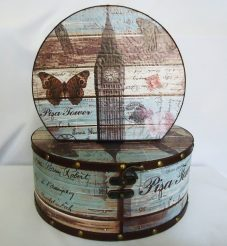 Шкатулка круглая набор из 2-х – Биг Бен