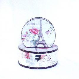 Шкатулка круглая набор из 2-х – Париж SH31297-447