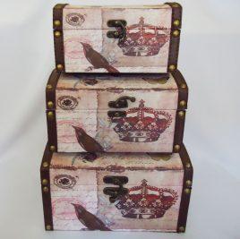 Сундук малый набор из 3-х – Корона