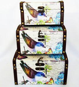 Сундук малый набор из 3-х – Птица SH31249-079