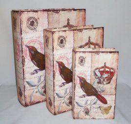 Шкатулка книга набор из 3-х – Корона