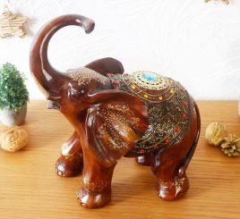 Статуэтка слона с украшениями, хобот к верху 30см H2481-3T