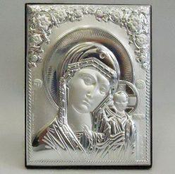 Икона Казанская Божией матери на деревянной основе 1022