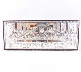 Изображение Тайная вечеря на деревянной основе