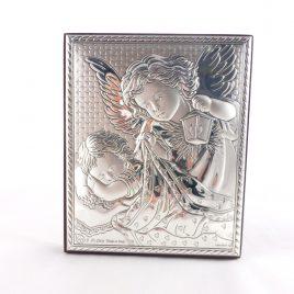 Изображение Ангелочков на деревянной основе