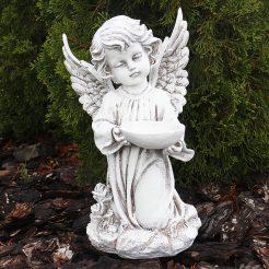 Ангел с пиалой 34 см СП502-3 беж