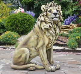Лев напольный большой 65*46 см СП308 цв