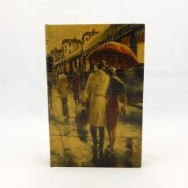 Шкатулка сейф — Пара под зонтом