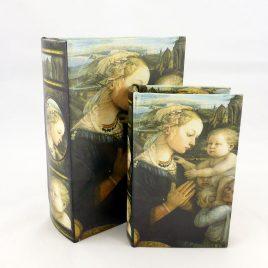 Шкатулка – Мадонна с младенцем 22-KSH-PU1631