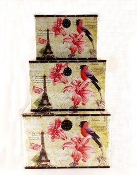 Сундук S/3 Эйфелева башня с цветком