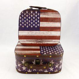 Чемодан набор из 2-х флаг США SH31193-302