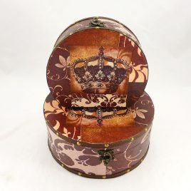 Шкатулка круглая Корона – 2 набор из 2-х SH31297