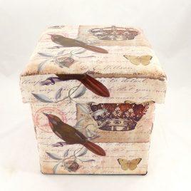 Пуфик банкетка с ящиком в стиле Шебби Шик складной Гранд Презент SH31456-443
