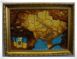 Карта Украины сложная Г-66 30*40