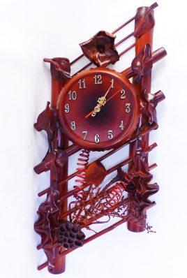 Часы из натуральной кожи и бамбука-Ажур ЧК25