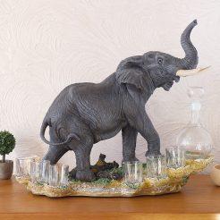 Штоф слон 44 см ШП401 цв