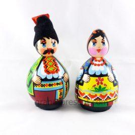 Украинская кукла средняя – Казак и Казачка 10см (дерево)(дерево)