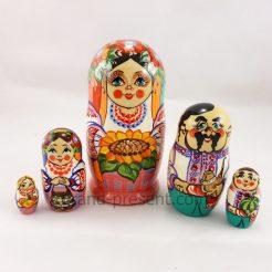 Матрёшка — Украинская семья из пяти 15см (дерево) 482354
