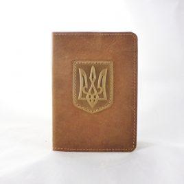 """Обложка для паспорта """"Герб"""" светлый 9.5*13.5см"""