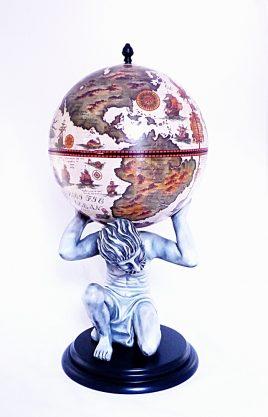 """Глобус бар напольный """"Atlas"""" – цвет слоновой кости"""