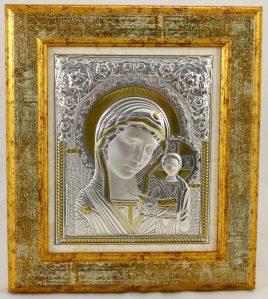 Икона Казанская в деревянной рамке 3042