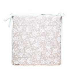 """Подушка на стул """"white Rose"""" с кружевом 40х40 см"""