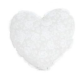 """Подушка Серце """"white Rose"""" с кружевом"""