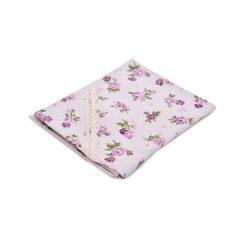 """Салфетка """"lilac Rose"""" с кружевом 35х45 см"""