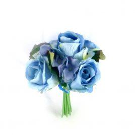 Букет Роза+Гортензия маленький ткань 35 см 709