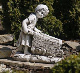 Садовая фигура Девушка с тележкой 45*24*51cm SS0691080