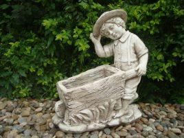 Садовая фигура Мальчик с тележкой 47x25x52cm SS0691099