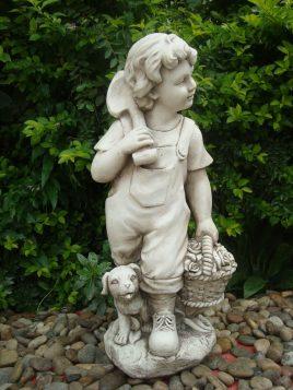 Садовая фигура Деревенский мальчик 27.5×23.2×60.5cm SS0877