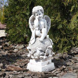 Ангел на цветке 37 см СП504-3 беж