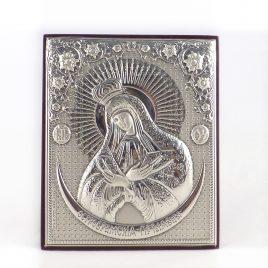 Икона Остробрамская объемная на деревянной основе 1047 ост,