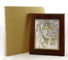 Икона Святой Николай в деревянной рамке
